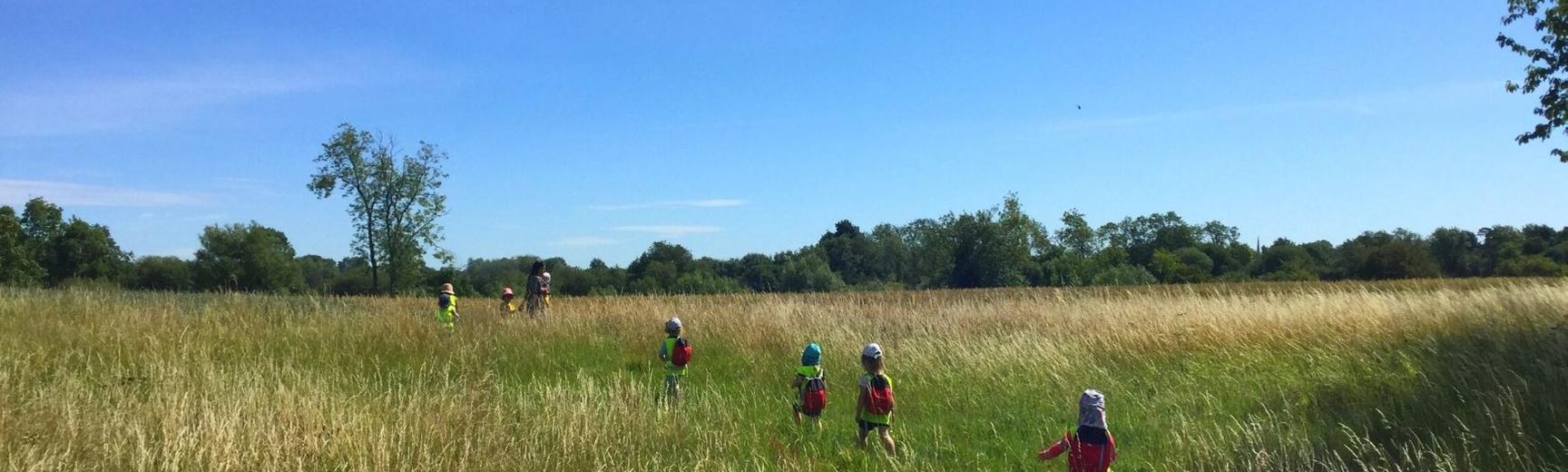 ey kids in field